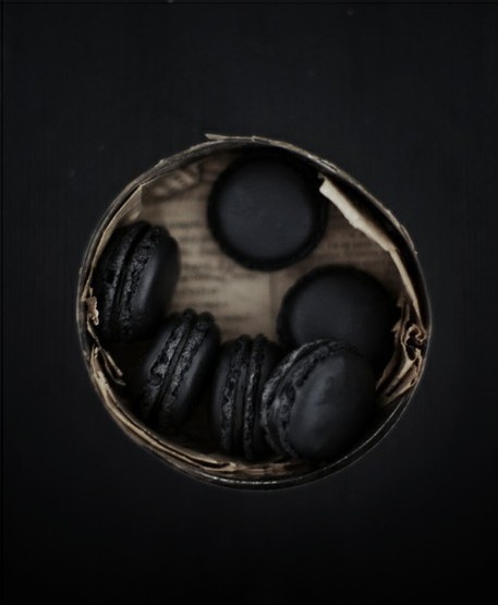 All Black Macarons