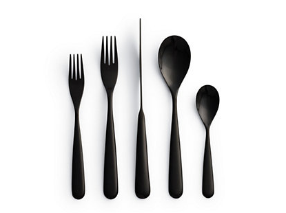 All black flatware