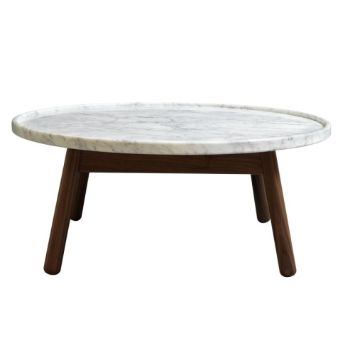 carve-coffee-table-round-walnut-base-white-marble-top