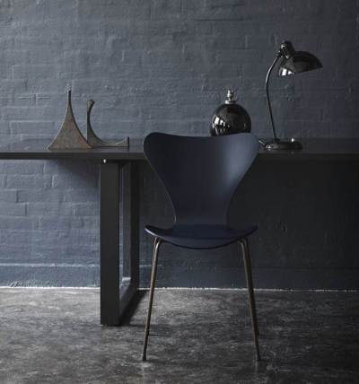 all black room chair wall