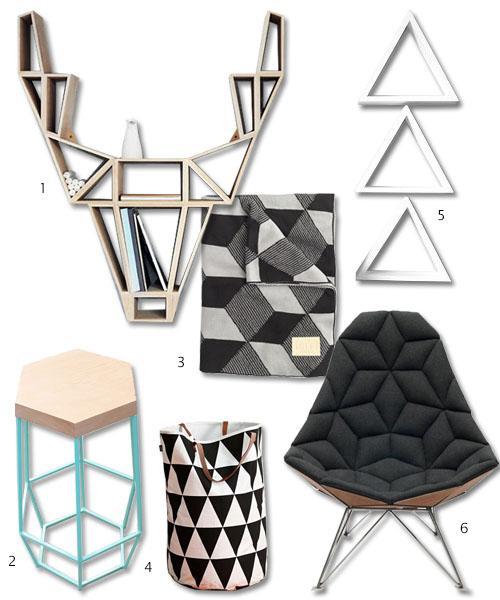 geometric furniture shelves